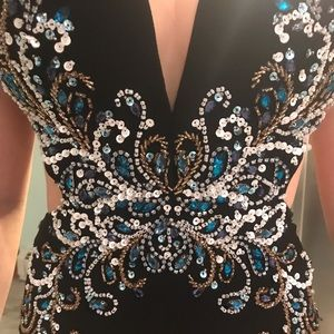 Black Morilee Prom dress with sequins